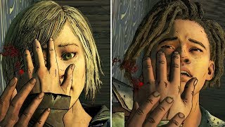 Louis Loses his Finger vs Violet Loses Her Finger - The Walking Dead The Final Season Episode 3