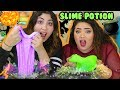 HALLOWEEN SLIME POTION | Make a witch brew challenge | random slime | Slimeatory #182