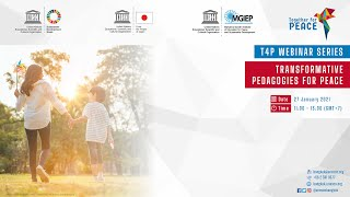 T4P webinar 1: Transformative Pedagogies for Peace