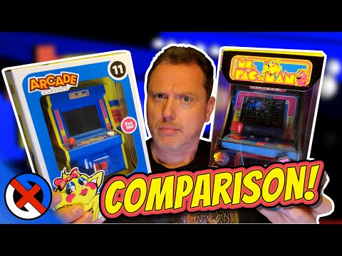 Ms. Pac-Man: Arcade Classics Vs My Arcade | Mini Arcade Showdown!