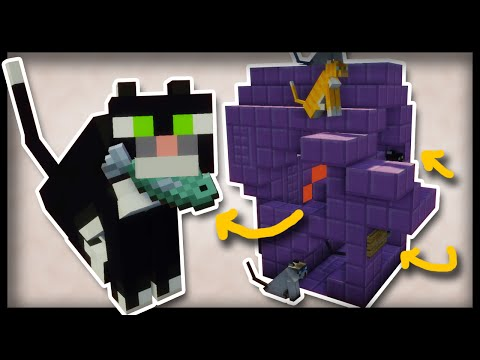 The Smart Minecraft CATHOUSE! (Command Block Tutorial)