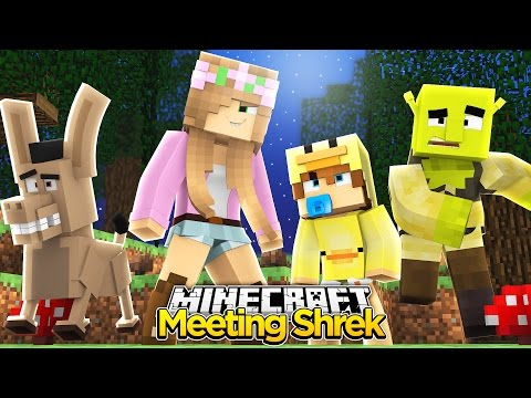Minecraft - Little Kelly: SHREK FAIRYTALE ADVENTURE! w/ Baby Duck!