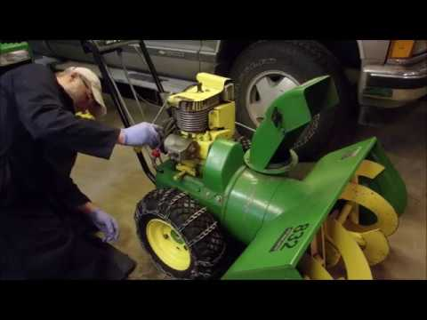 Converting a Tecumseh Snow Blower to Electric Start Pt.1
