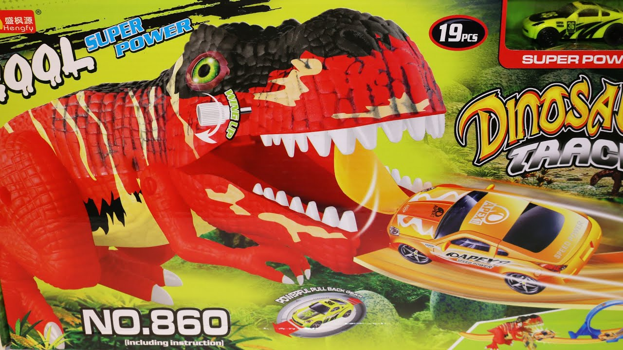 Dinosaurs Track with Lights & Sound Cool Super Power Car Toys