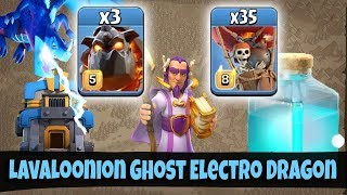 LavaLoonion Ghost Electro Dragon TH12 Attack Strategy 2019! 3star TH12 War Bases Clash Of Clans