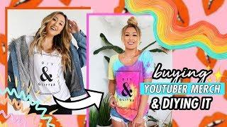 Buying YouTuber Merch & DIYing It #5!