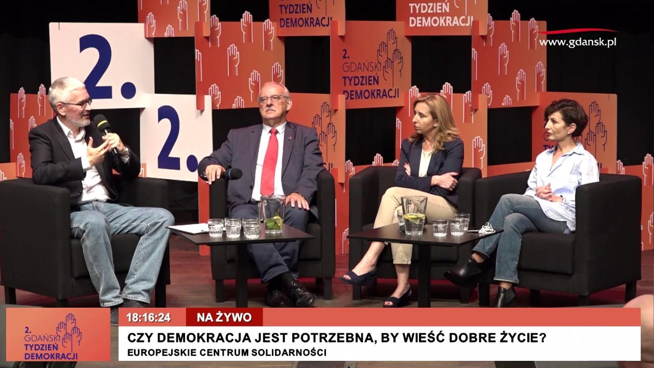 """2017.09.11 Drugi Gdański Tydzień Demokracji. Druga debata. """"Czy demokracja jest potrzebna …?"""""""
