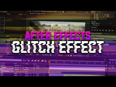 How To: Create a Glitch Effect in Adobe After Effects CC