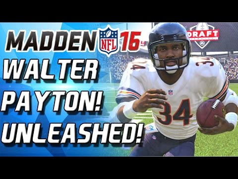 WALTER PAYTON UNLEASHED! SHATTERS THE DEFENSE! - Madden 16 Draft Champions