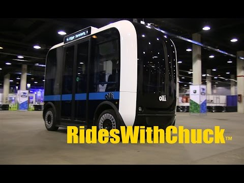 Olli Self Driving 3D Printed Bus  The Head of Product Development Speaks & we go for a RIDE!