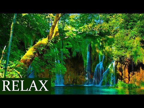 Relaxing Music To Brighten UP Your Day - Happy Morning Music - Waterfall Video
