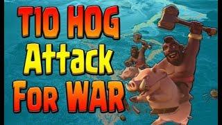 TH10 HOG STRATEGY Queen Walk UPDATE | Best 3 STAR Hog Rider Attack | Clash of Clans War Attack