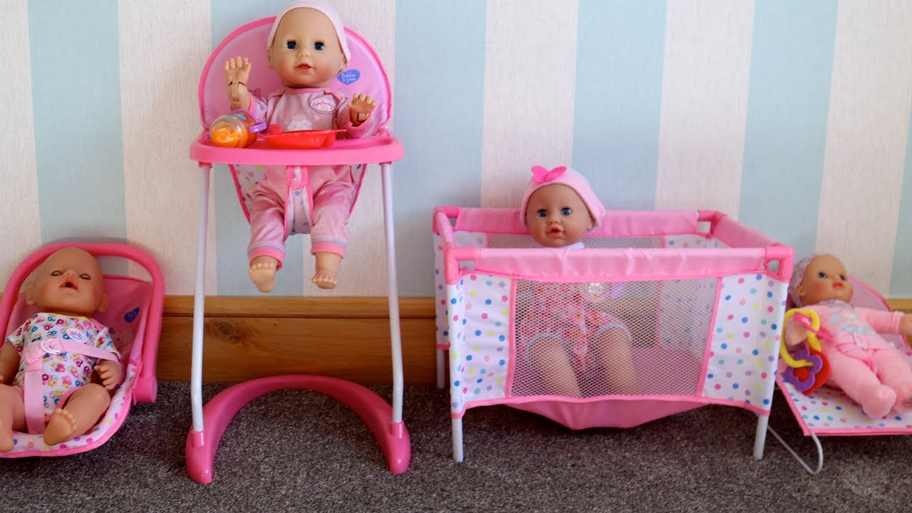 Baby Doll Stroller Toys R Us Baby Dolls 4 In 1 Nursery Sets Baby Born Baby Annabell