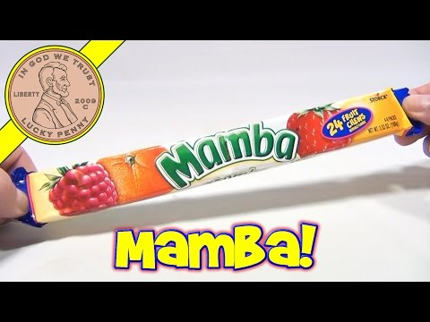 Mamba Fruit Chews, Storck Candy - Compared to a Starburst and Hi-Chew