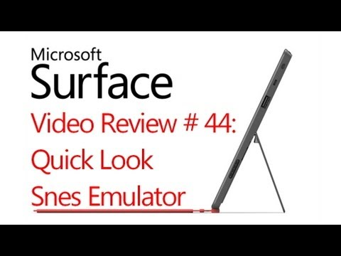 Microsoft Surface RT Review # 44: Snes Emulator -  (Windows 8)