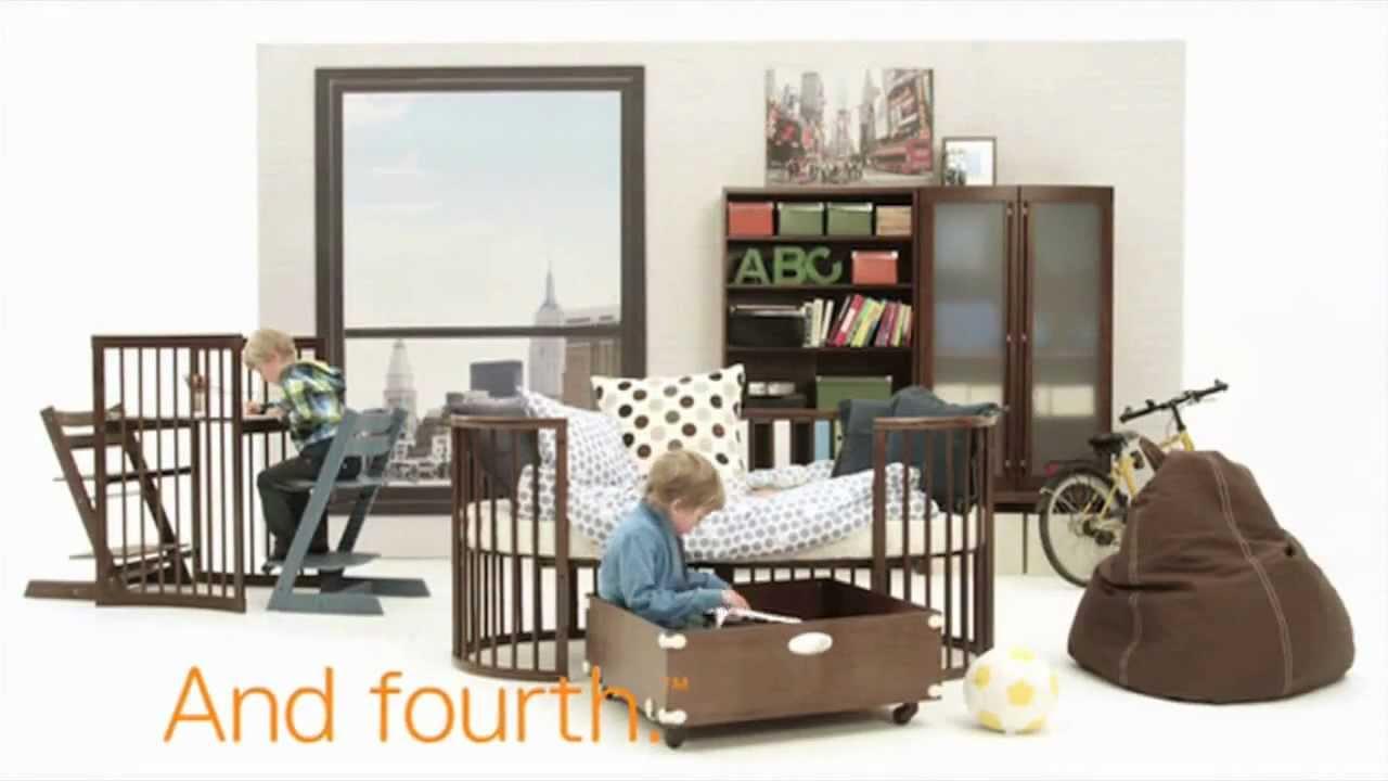 lit volutif sleepi stokke youtube. Black Bedroom Furniture Sets. Home Design Ideas