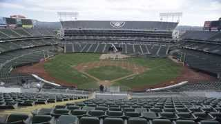 O.co Coliseum Conversion Time Lapse Video Athletics to Raiders 10.5.13 - 10.6.13 Oakland, CA