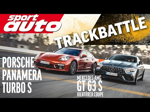 Porsche Panamera Turbo S vs. AMG GT 63 S 4-Türer | Trackbattle | sport auto