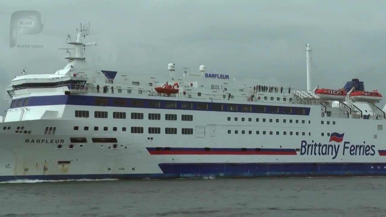 Barfleur cruise ferry ship information brittany ferries - Barfleur Brittany Ferries Departing Poole Harbour Plato Video