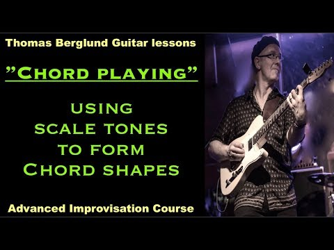 Using scale tones to form chord shapes