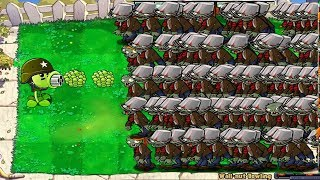 Plants vs Zombies Hack Epic 100% Peashooter vs 9999 Conehead Zombie