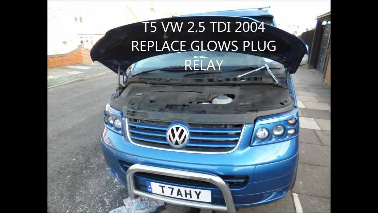 maxresdefault how to find and replace the glow plug relay on a t5 2 5tdi vw transporter t5 fuse box location at readyjetset.co