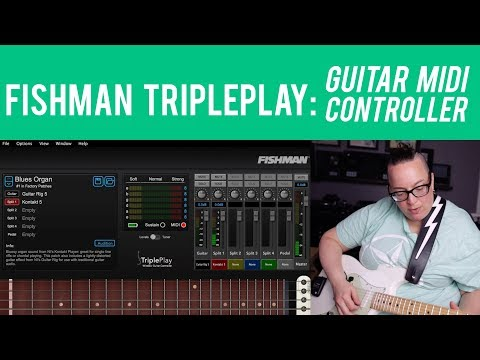 Fishman TriplePlay Guitar Midi Controller - This is crazy!