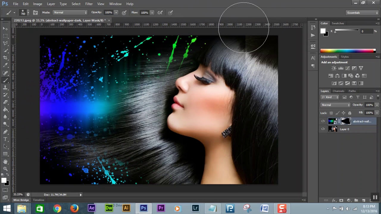How to merge two or more pictures seamlessly in photoshop ...