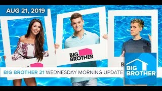 Big Brother 21 Wednesday Aug 21 Morning Update #BB21