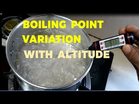 Study Boiling Point Of Water With Altitude