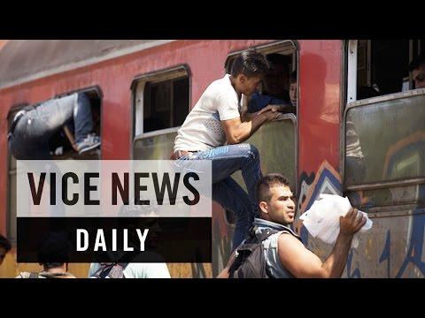 VICE News Daily: Macedonia's Migrant Train Station
