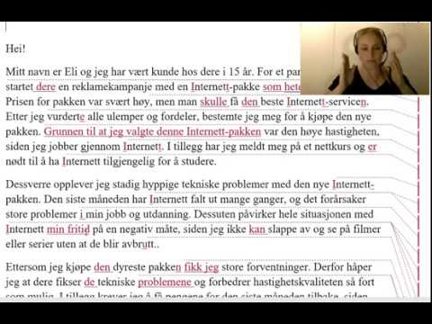 Norskprøve B2 Skriftlig Eksempler