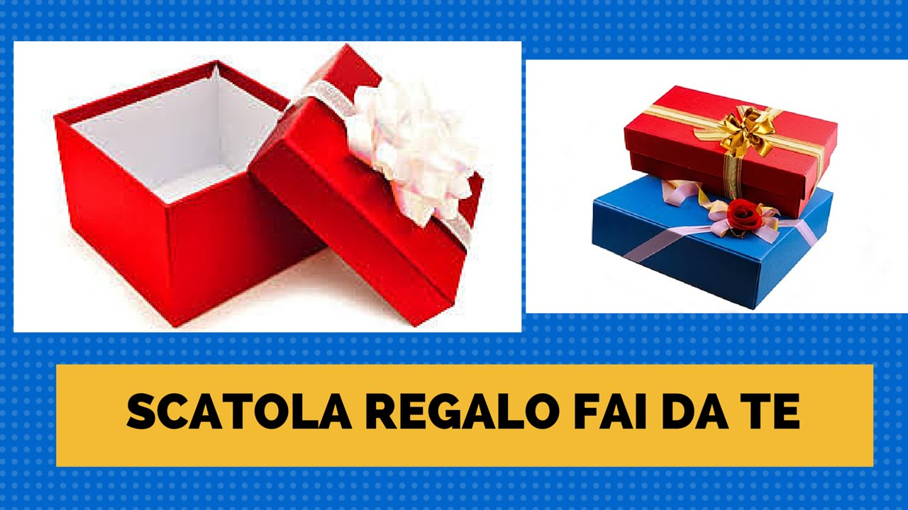 Preferenza Come Fare una Scatola Regalo (Origami Gift Box) - YouTube IN14