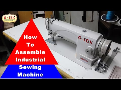 Industrial Sewing Machine Installation And Assembly Machine Adorable How To Assemble Sewing Machine