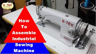 Industrial sewing machine, installation and assembly, machine fitting, gohilsew