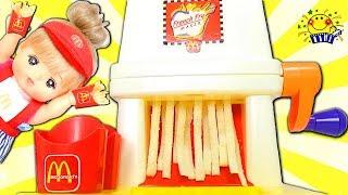 メルちゃん リカちゃん おもちゃ マクドナルド お店屋さんごっこ遊び❤️ハンバーガーをねんどで料理♪キッチンでジャム作り♪畑で野菜も収穫!Mell-chan doll たまごMammy thumbnail