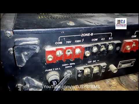 Ahuja TZA 1600 POWER AMPLIFIER by DJ SYSTEMS