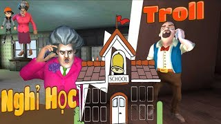 PenTV Is Excused From School And Entering The Troll Teacher - Scary Teacher 3D