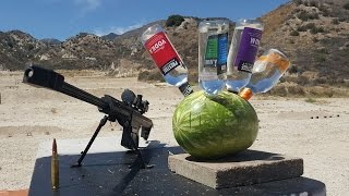 Long Island Spiked Watermelon vs .50 cal