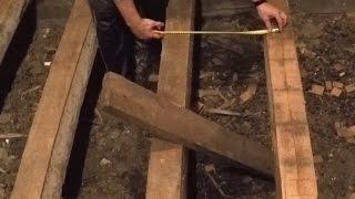 видео Замена лаг пола: цена демонтажа деревянного пола и выравнивание