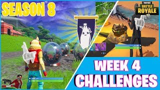 FORTNITE SEASON 8 WEEK 4 CHALLENGES WITH SECRET BANNER LOCATION AND MORE