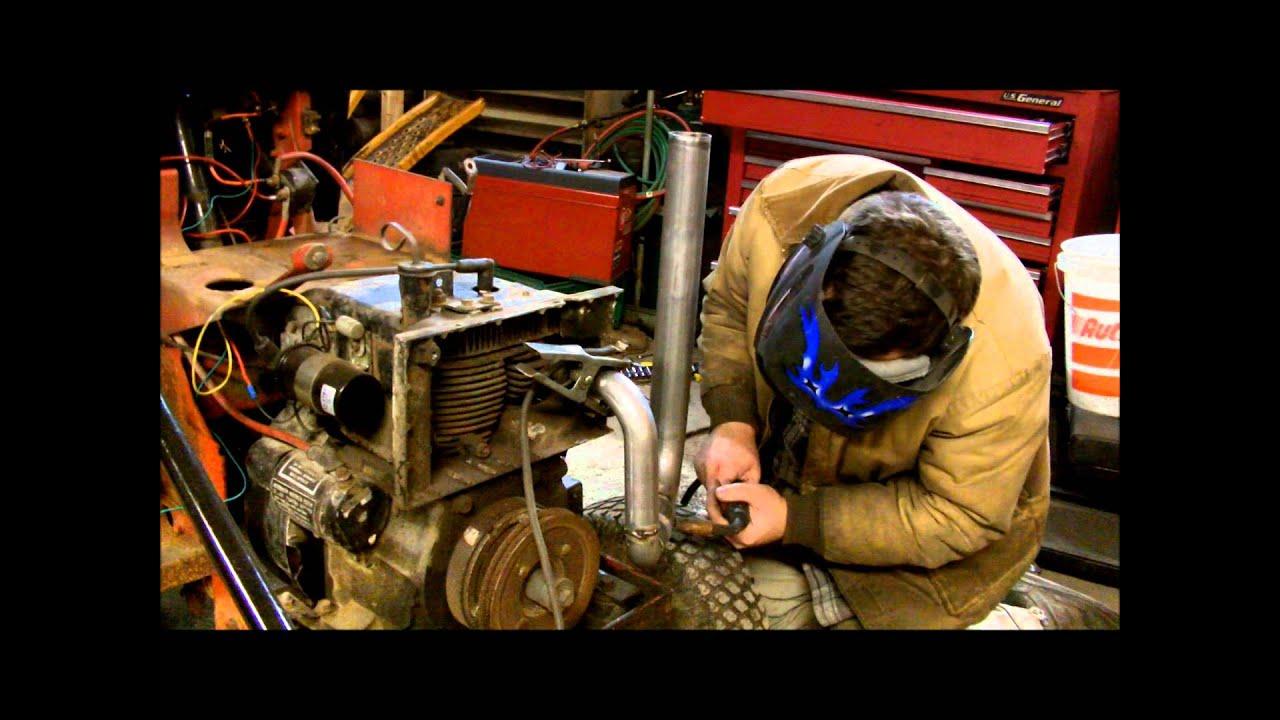 Stacking the Massey! - Massey Ferguson Garden Tractor Exhaust Stack