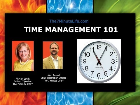 Time Management Training: One hour basic time management training video