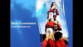Climbing PowerPoint Template by PoweredTemplate.com