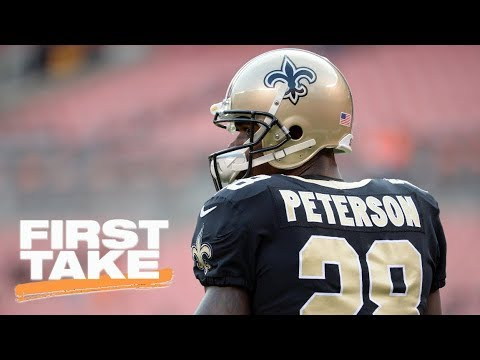 Adrian Peterson, Sean Payton appear to have heated exchange | First Take | ESPN