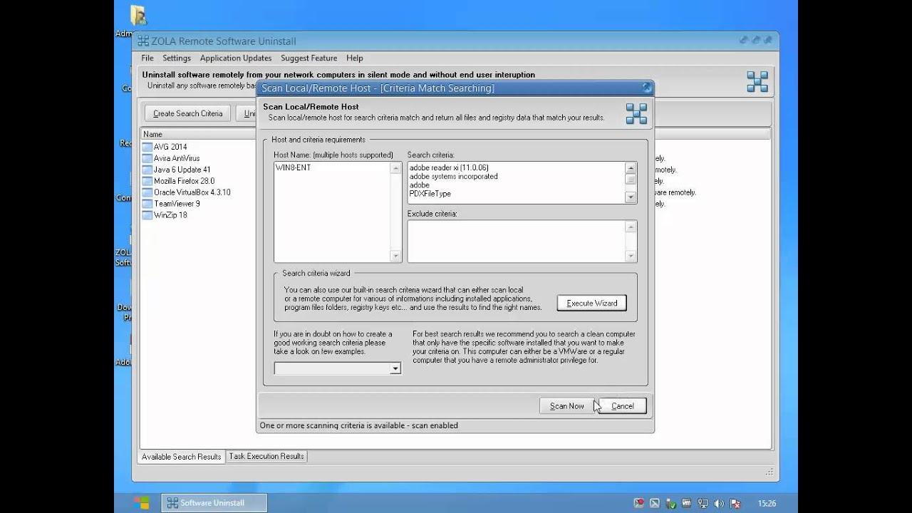 Uninstall acrobat reader software remotely