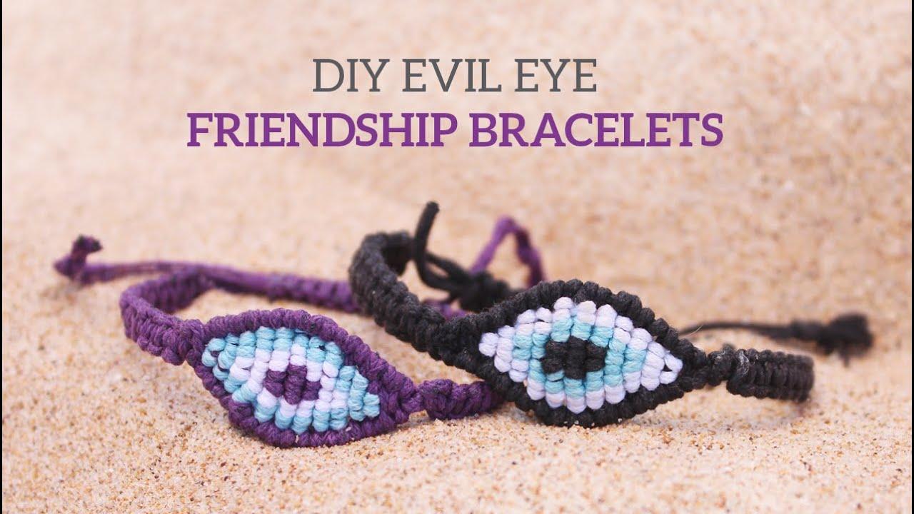 Diy Evil Eye Macrame Friendship Bracelets Curly Made