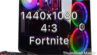 Fortnite 1440X1080 4:3 LOW TO EPIC CYBERPOWERPC Gamer Xtreme VR GXiVR8060A5 Desktop Gaming PC