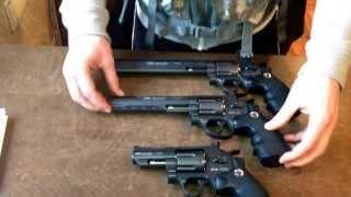 Пневматические пистолеты Gletcher SW R25, R6 и R8