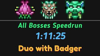 Speedrun Duo: All bosses Expert Unseeded 1:11:25 RTA WR